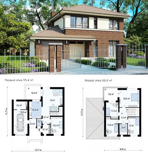 проект планировки двухэтажного дома