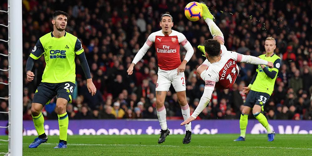 Arsenal VS Huddersfield 1-0 Hasil Liga Inggris - Cuplikan Gol