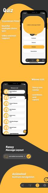 Multimedia and quiz  ios app