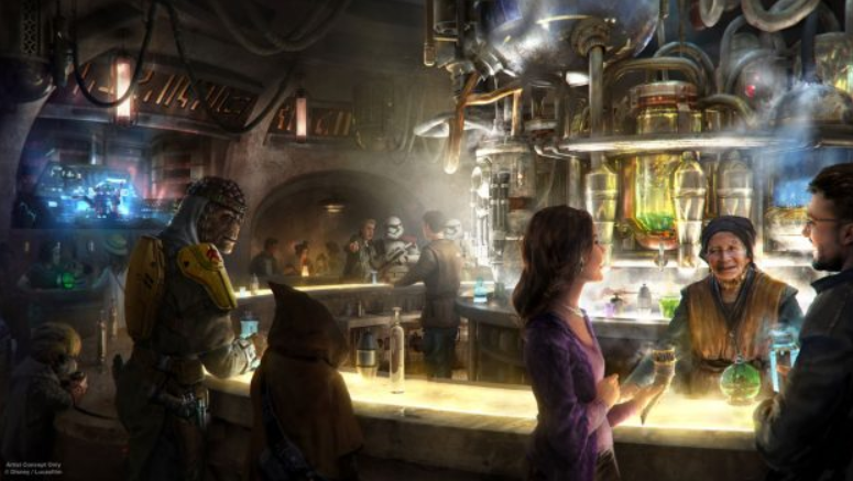 Star Wars Land Oga's Cantina