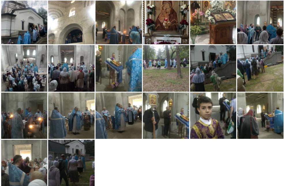 В праздник Донского образа Богородицы 1 сентября 2021 года был отслужен молебен в строящемся Донском храме