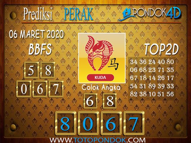 Prediksi Togel PERAK PONDOK4D 06 MARET 2020