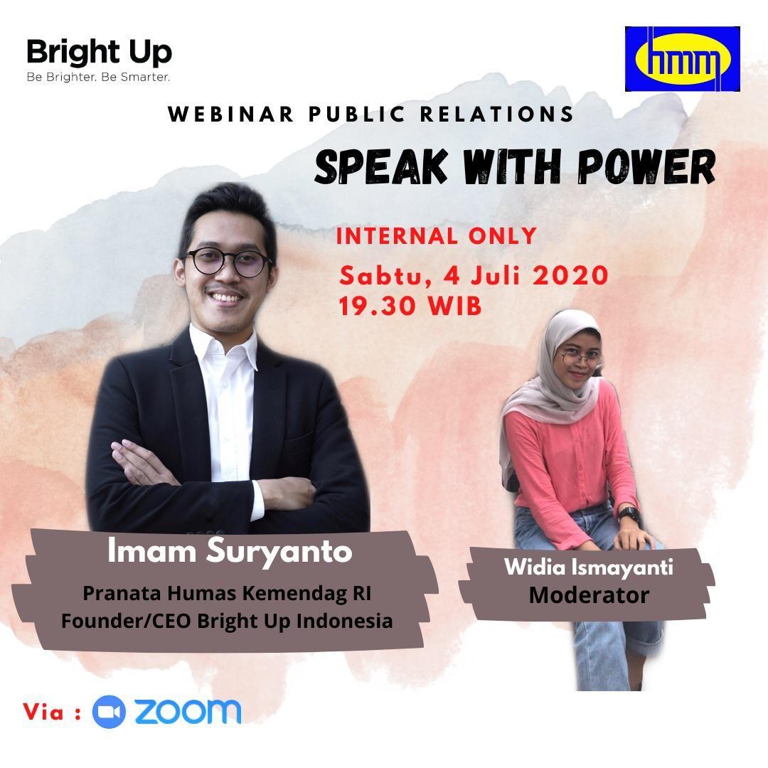 """Speak With Power"" Di Acara Webinar Public Relation"