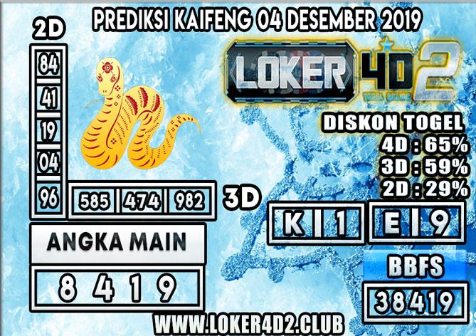 PREDIKSI TOGEL KAIFENG POOLS LOKER4D2 04 DESEMBER 2019