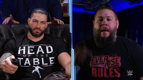 Kevin Owens y Roman Reigns Royal Rumble 2021 SmackDown 29 enero
