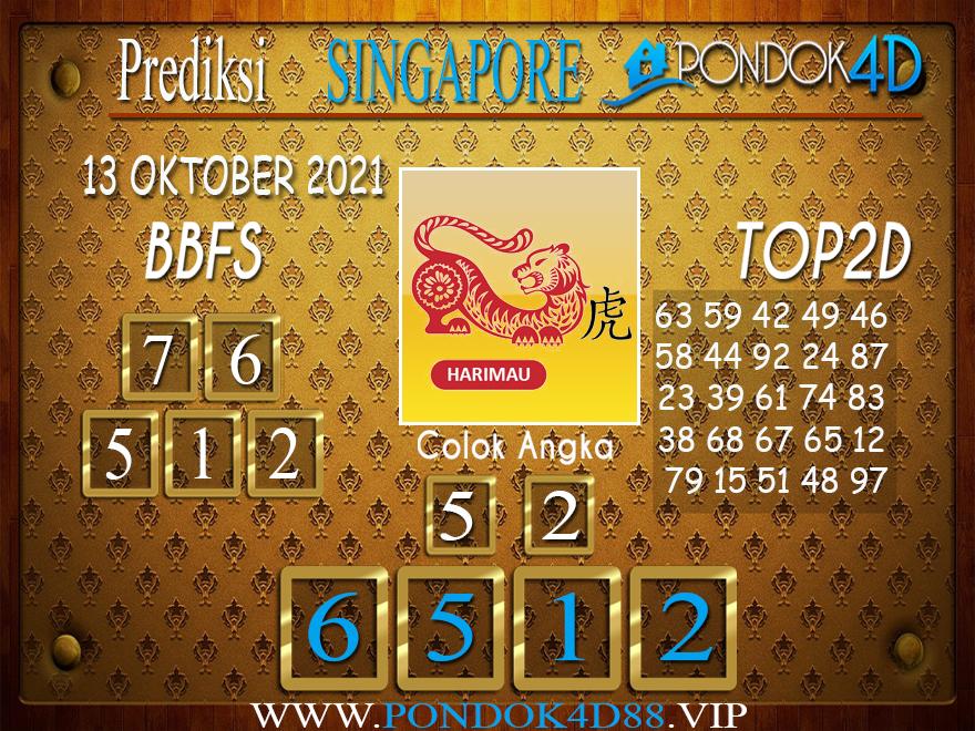 Prediksi Togel SINGAPORE PONDOK4D 13 OKTOBER 2021