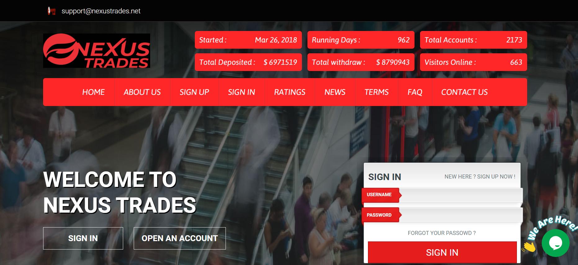 Nexustrades.net scam