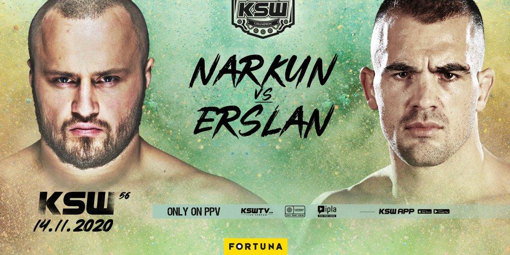 Томаш Наркун ще брани титлата срещу Иван Ерслан на KSW 56