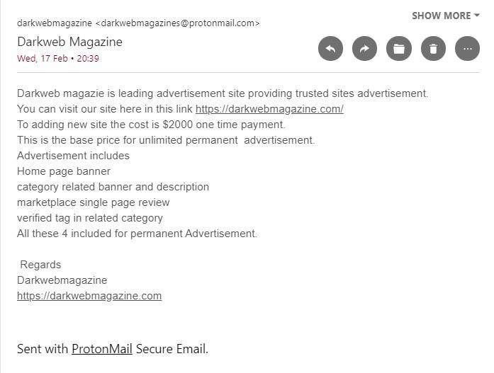darkweb scam