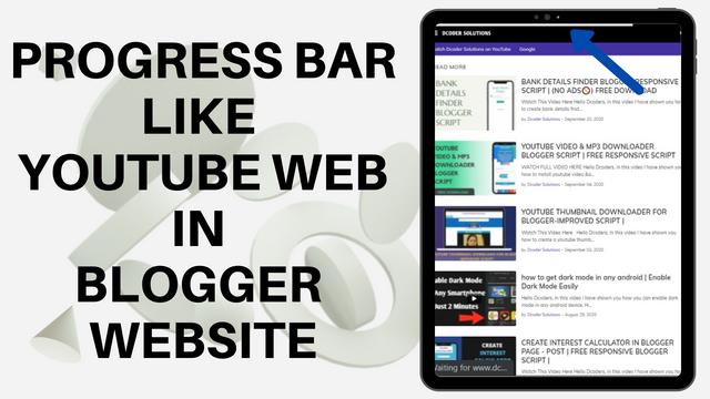 PROGRESS BAR LIKE YOUTUBE WEB IN BLOGGER WEBSITE |
