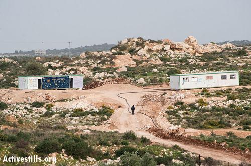 Two-caravans-form-a-new-Israeli-settler-outpost-on-land-belonging-to-the-West-Bank-village-of-Jayyou