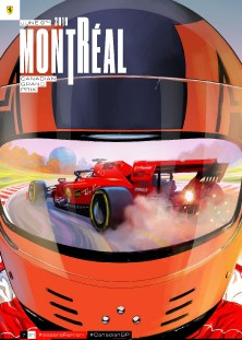 7 CANADA 2019 FERRARI COVER ART POSTER
