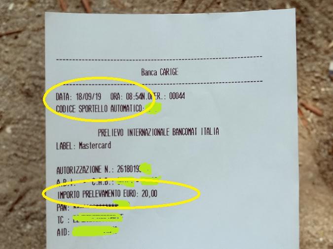Bunq! 3 Bellissime carte +Bonifici Istantanei e 25 IBAN usa e getta INCLUSI + PROMO 10,00 € DI APERTURA 2019-Set-18-Prelievo
