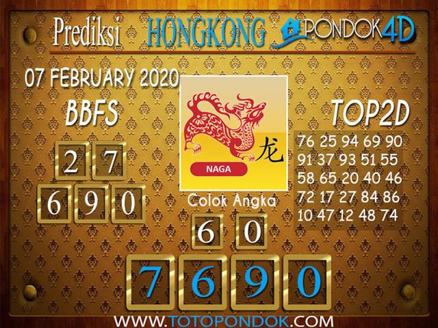 Prediksi Togel HONGKONG PONDOK4D 07 FEBRUARY 2020