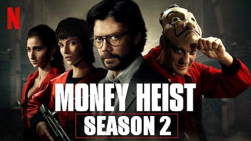 Money Heist 2018 WebRip 720p 480p S02 Complete NF Series Dual Audio Hindi Dubbed