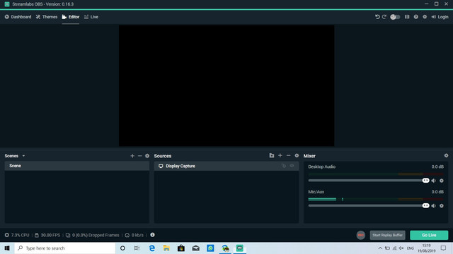Question - Streamlabs OBS - black screen in Display Capture