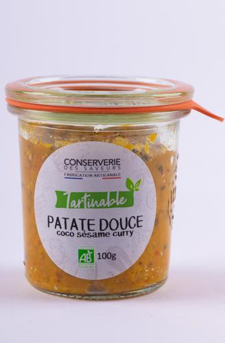 Tartinable patate douce coco sesame curry (tartinabil de cartof dulce, cocos, susan si curry) BIO 100g