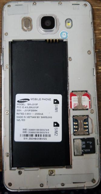 SM-J510F MT6572 Read Firmware