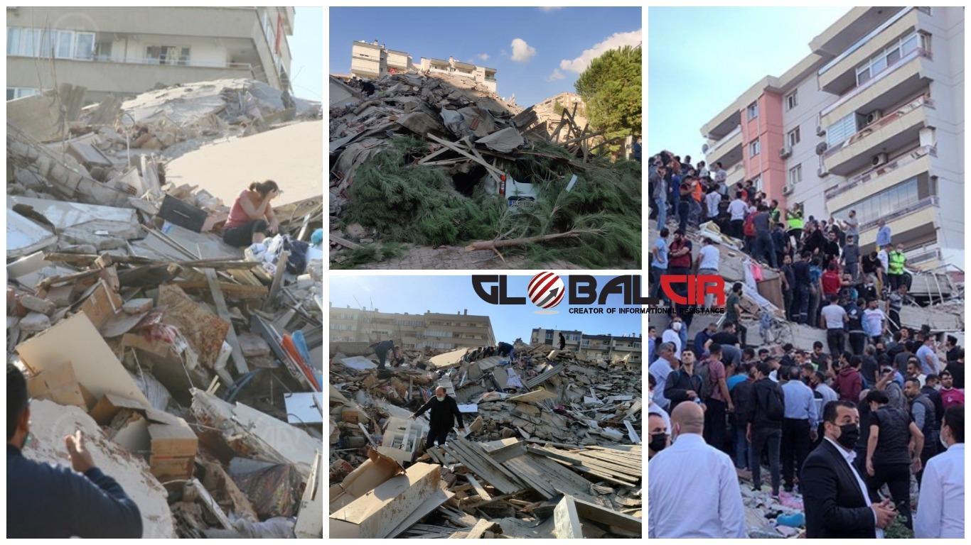 MAGNITUDA 7.0, MINI CUNAMI POGODIO IZMIR! Stravičan potres zatresao Grčku i Tursku, vijesti su strašne: 'Srušeno je najmanje 20 zgrada'