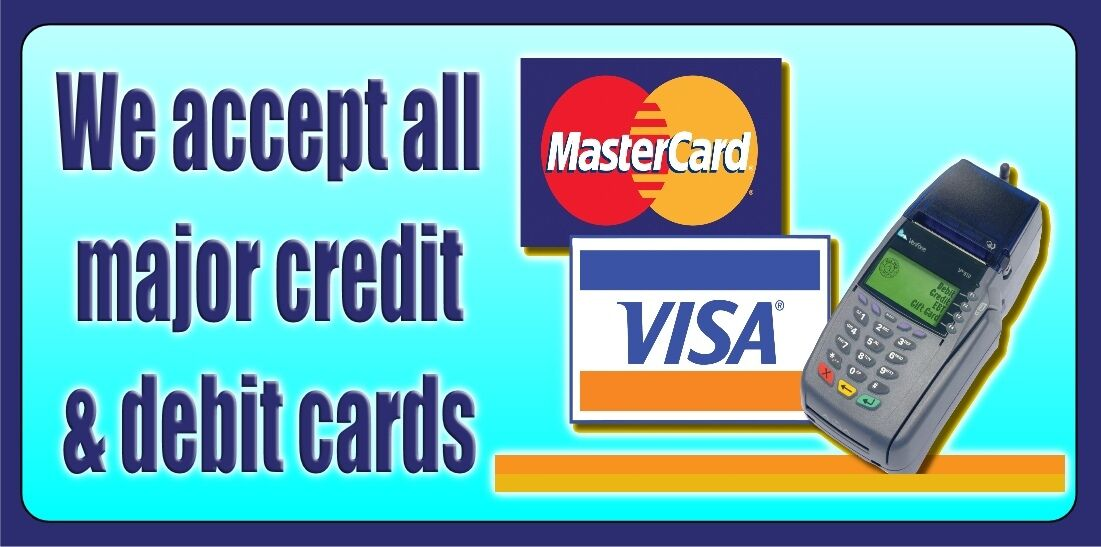 We Accept all major credit cards: Visa, Mastercard You can use any of these cards