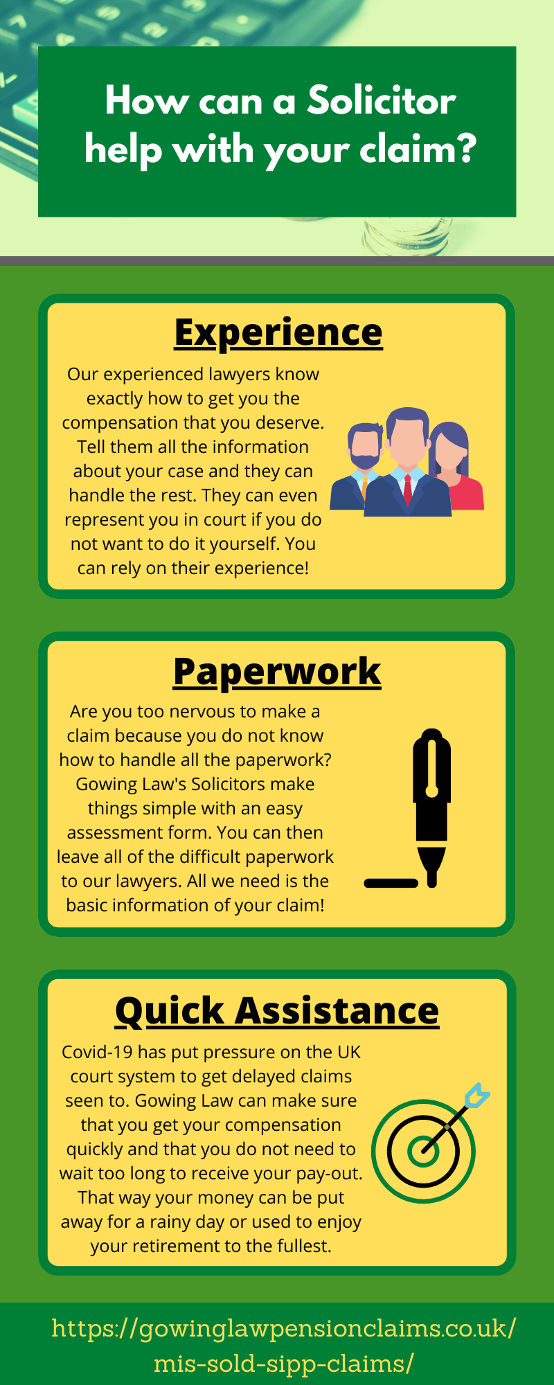 solicitor mis-sold sipps claim infographic