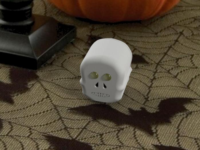 Skull Light on Decorated Table