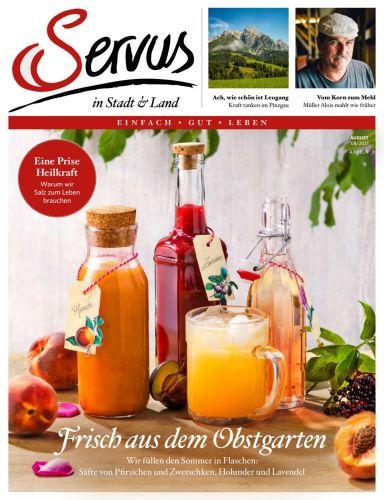 Cover: Servus in Stadt und Land Magazin Einfach Gut Leben No 08 2021