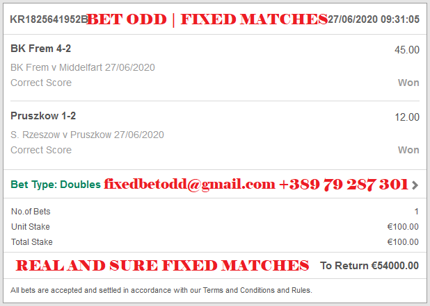 REAL AND SURE FIXED MATCHES, CORRECT SCORE FIXED MATCHES
