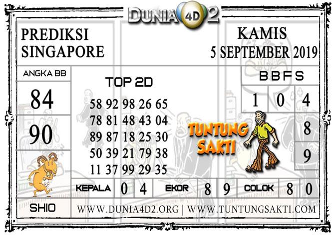 """Prediksi Togel """"SINGAPORE"""" DUNIA4D2 5 SEPTEMBER 2019"""