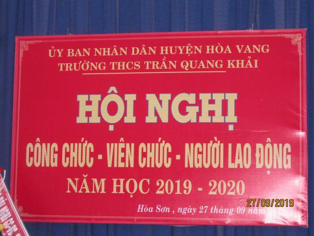 Hội nghị CC-VC-NLĐ năm học 2019 - 2020