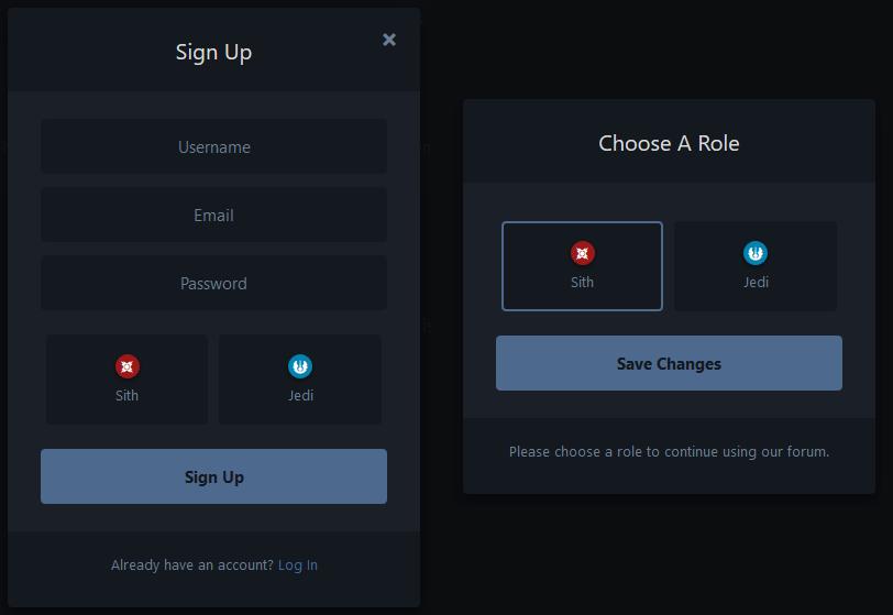 Registration Roles