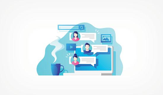 Participate in online communities