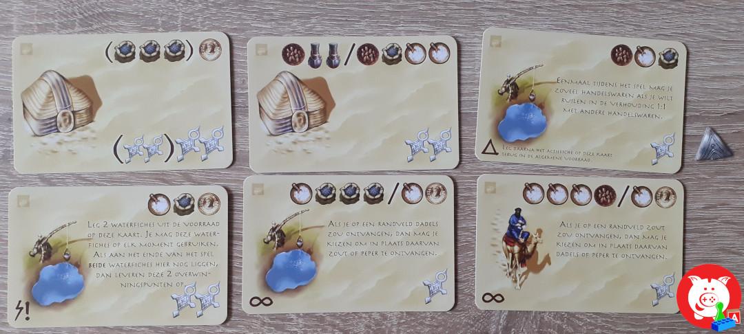 Een greep uit de nieuwe stamkaarten.