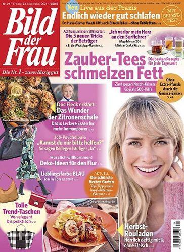 Cover: Bild der Frau Magazin No 39 vom 24  September 2021