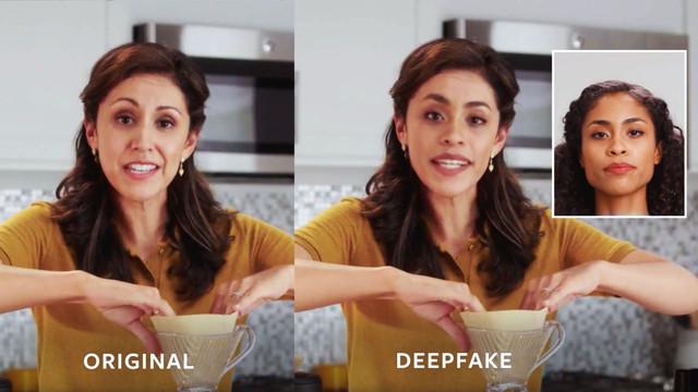 Comparison of an original and a Deepfake