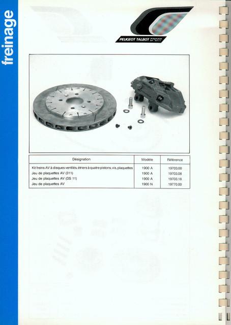 Catalogue PTS pièces compétition - 205 GTI 1600-1900 gr. N/A PTS-Freinage-2