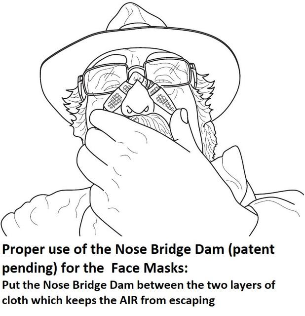 Proper-use-of-Nose-Bridge-Dam-Patent-Pending