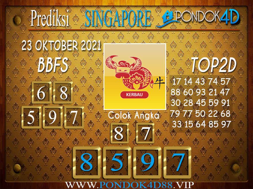 Prediksi Togel SINGAPORE PONDOK4D 23 OKTOBER 2021