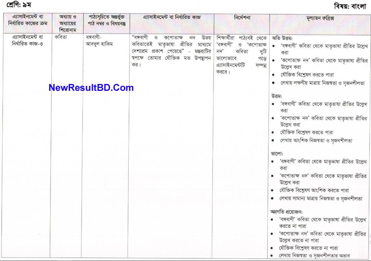 Bangla 8th Week Assignment Of Class 6