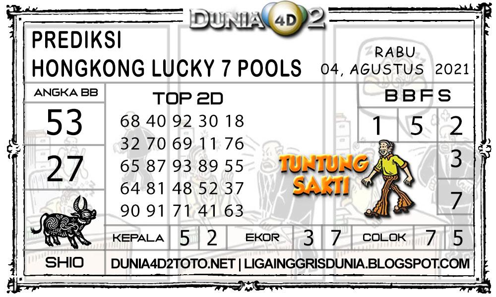 Prediksi Togel HONGKONG LUCKY7 DUNIA4D2 04 AGUSTUS 2021
