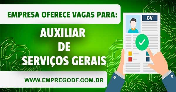 EMPREGO PARA AUXILIAR DE SERVIÇOS GERAIS - ATUAR NA CIDADE OCIDENTAL