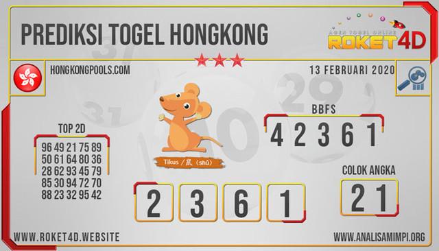 PREDIKSI TOGEL HONGKONG KAMIS 13 FEB 2020