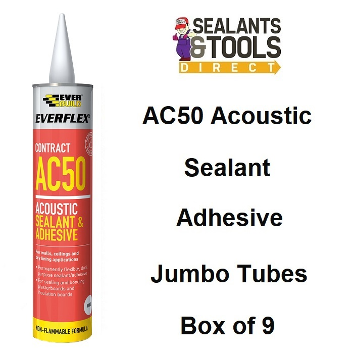 Everbuild Everflex AC50 Acoustic Sealant Adhesive 900ml Box AC50900
