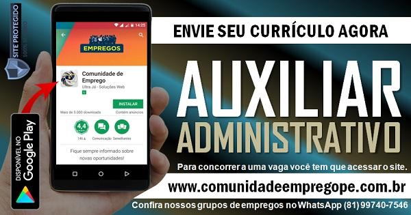 AUXILIAR ADMINISTRATIVO PARA LOCADORA DE EQUIPAMENTOS NA ILHA DO LEITE
