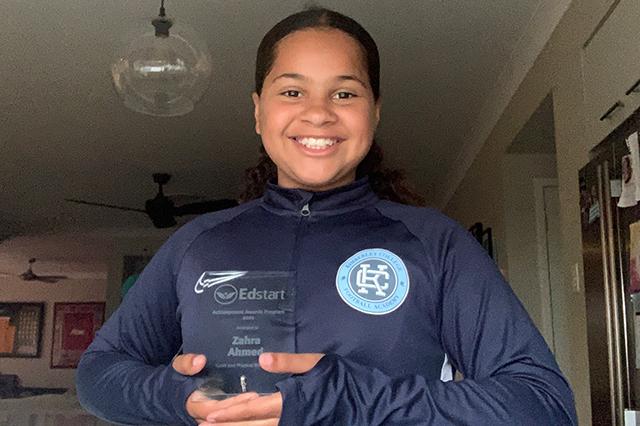 Zahra Ahmed - Edstart Achievement Award winner