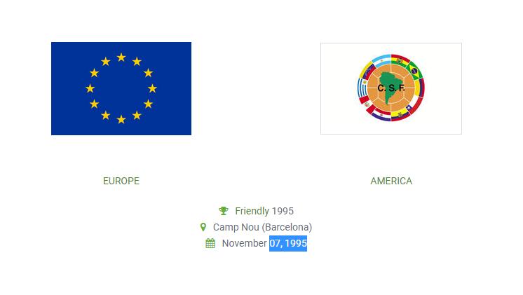 Mecz towarzyski Europa vs. Ameryka (07.11.1995)