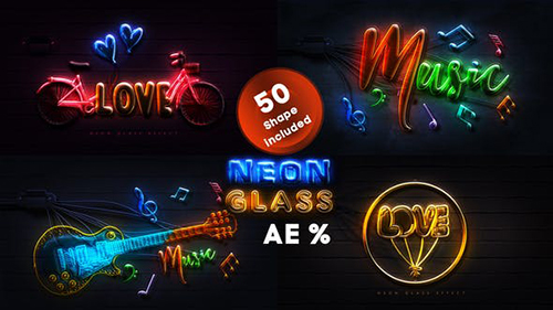 Neon Glass 28123503 - Project for After Effects (Videohive)