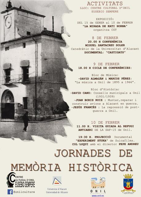Jornades Memòria Històrica Onil