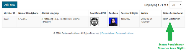 statusdaftar
