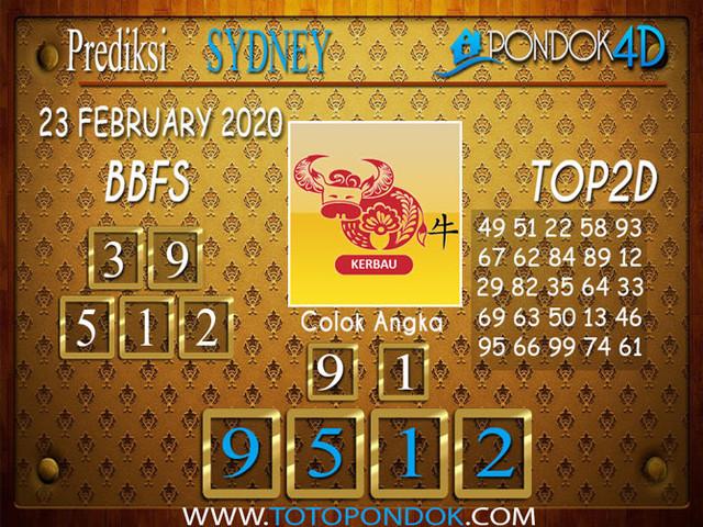 Prediksi Togel SYDNEY PONDOK4D 23 FEBRUARY 2020